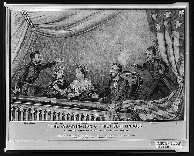 Picture of Lincoln's Assassination in Ford's Theater