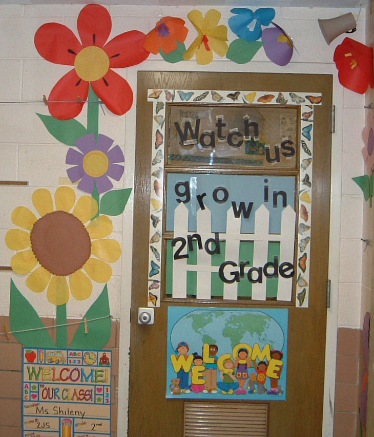 Spring classroom door decoration ideas memes for Back to school decoration ideas