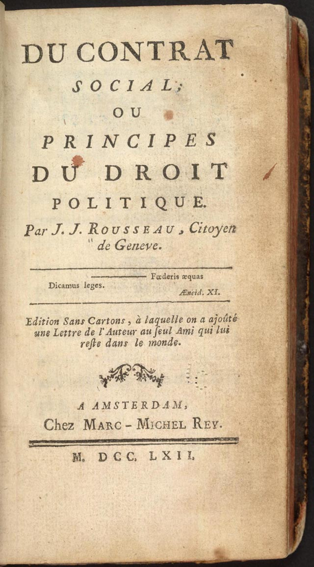 rousseau s the social contract and declaration of the rights of man and the citizen The social contract stresses the duty of the state to protect man's freedom and   is frances the declaration of the rights of man and of citizens, more.